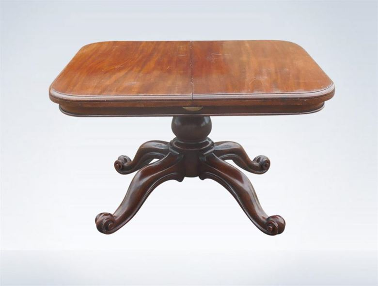 london oak large pedestal home. antique dining table extending on pedestal base seat 10 people london oak large home