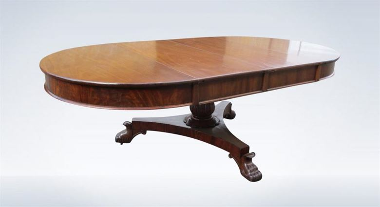 Antique Dining Table Late Regency Round Extending