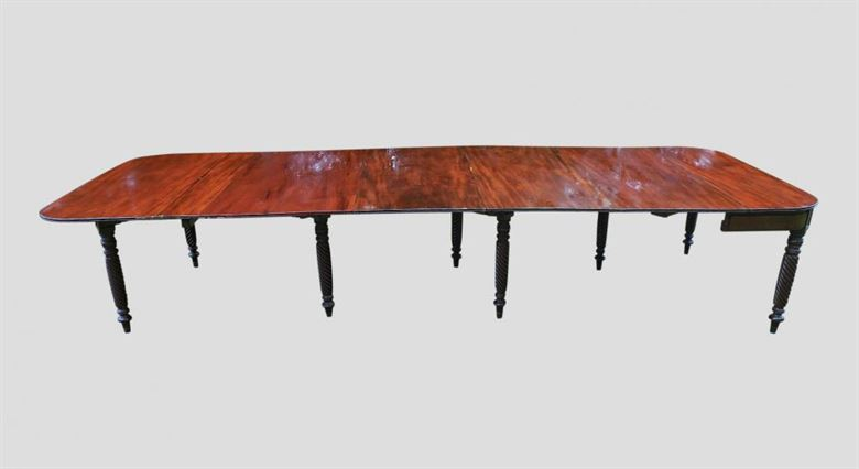 antique georgian tables large original regency mahogany dining table