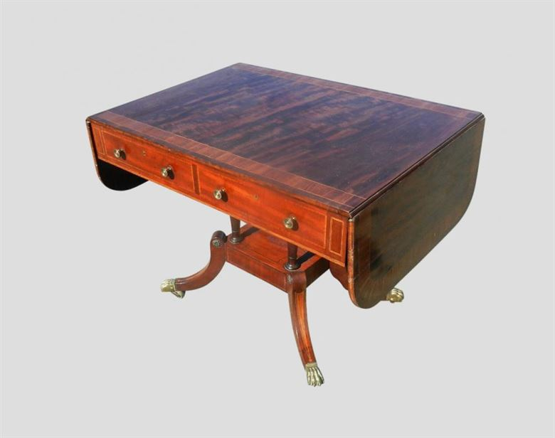 Antique Mahogany Sofa Table From Regency Period C1810 - ANTIQUE HALL TABLES IN OUR ANTIQUE FURNITURE WAREHOUSE