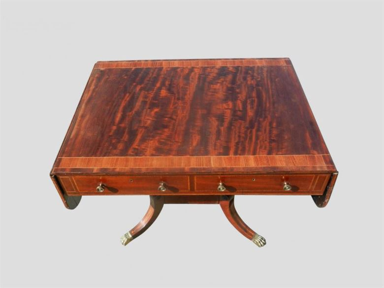 Antique Mahogany Sofa Table From Regency Period C1810