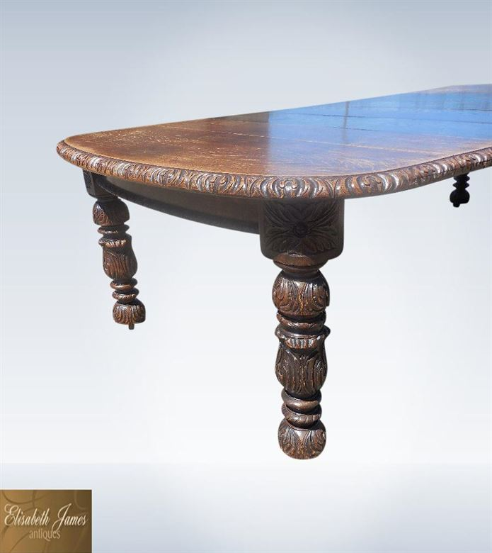 Antique Oak Dining Tables | 19th Century 3 Metre Jacobean Carved Oak Dining Table