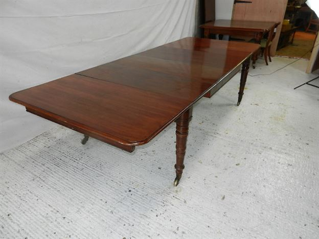 Antique Regency 3 Metre Table - Early Period 10ft Extending Dining Table By Famous London Makers Wilson.