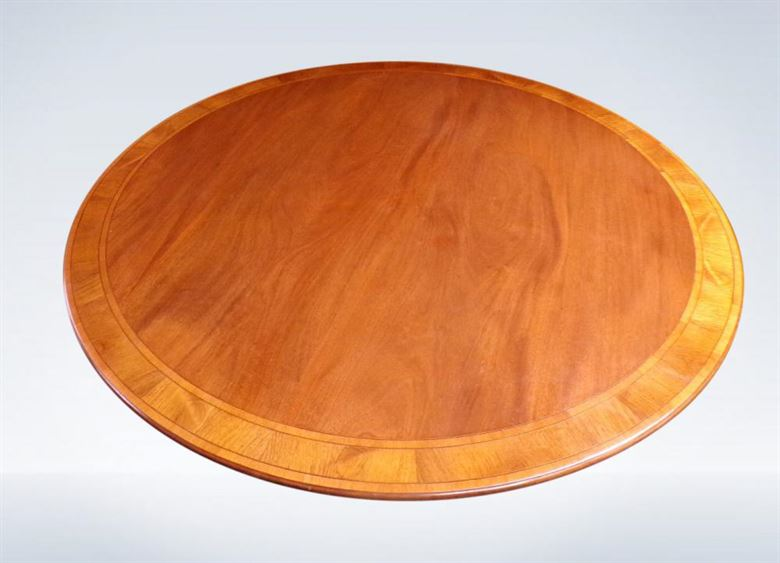 Antique Regency Round Mahogany Dining Table To Seat 8 People