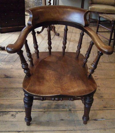 ANTIQUE FURNITURE WAREHOUSE Antique Captains Chair