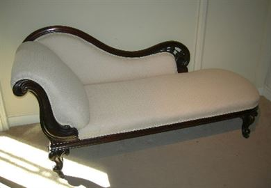 Antique furniture warehouse antique chaise longue mid for Chaise longue tours