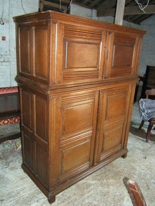 Antique Court Cupboard - Antique early 19th Century oak Court livery  cupboard - 19th Century Antique Court Livery Cupboard - Antique Oak Cupboard UK
