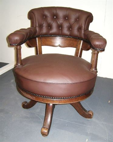 leather antique wood office chair leather antique. Antique Desk Chair - Late 19th Century Oak And Leather Revolving Wood Office T