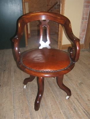Antique Office Furniture 19th Century Victorian Mahogany