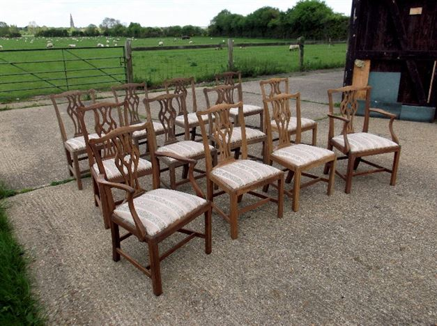 Antique Chippendale Dining Chairs Antique Dining Chairs Set 12