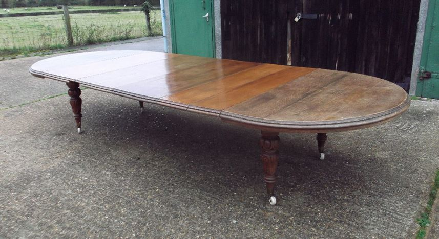 antique oak oval dining table. antique dining table to seat 6 18 people - 14ft 4.5 metre early victorian oak oval