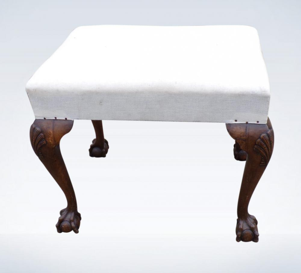 Antique Dressing Stool Georgian Mahogany Revival