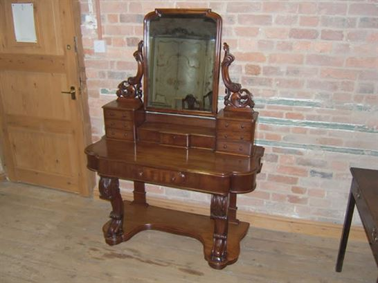 Antique Dressing Table   Victorian Duchess Mahogany Dressing Table