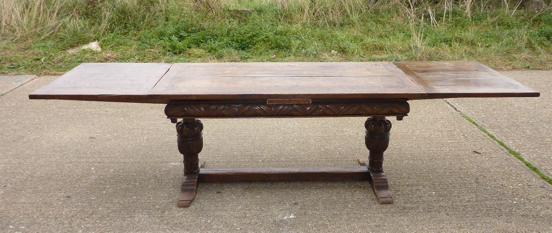 Antique furniture warehouse antique english oak refectory table antique english oak refectory table large early period english revival oak extending refectory table to geotapseo Gallery