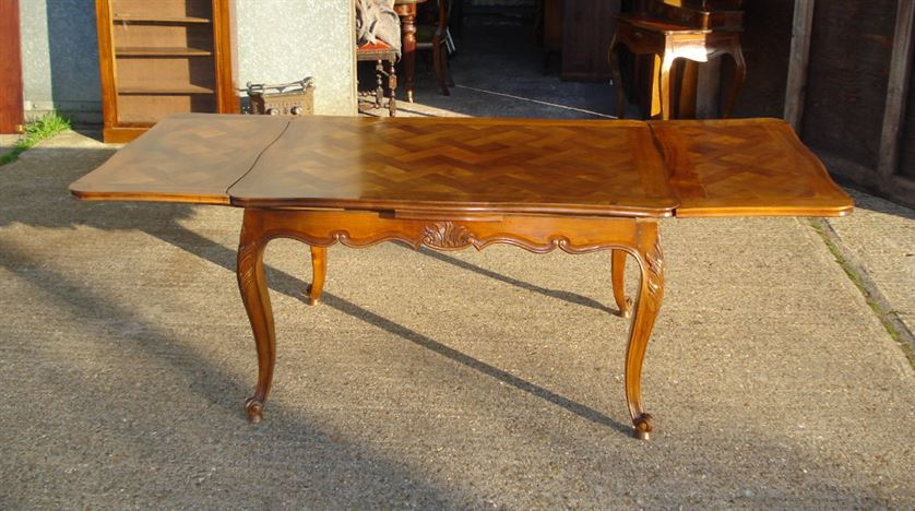ANTIQUE FURNITURE WAREHOUSE Antique Farmhouse Table French Cherry Wood Pa