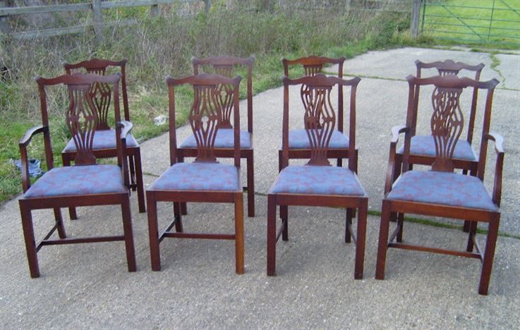 Chippendale Chairs Antique Antique Georgian Dining Chairs
