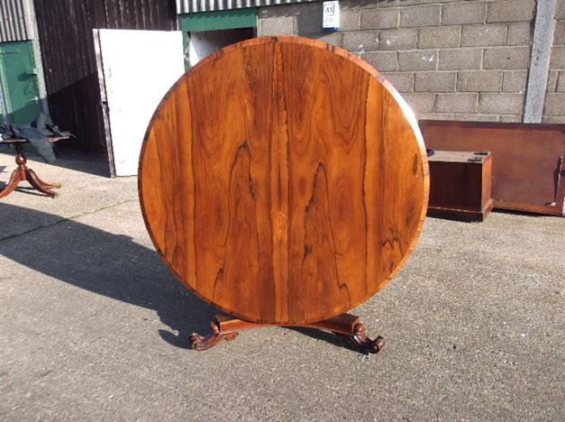Antique Georgian Table   Regency Rosewood Round Breakfast Table To Seat 6  To 8 People