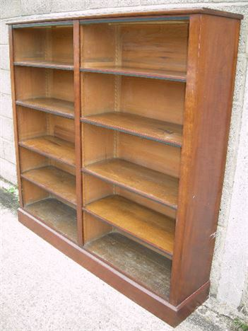 antique mahogany bookshelves large mid 19th century victorian mahogany open library bookcase - Large Bookshelves