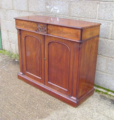 Bon Antique Mahogany Small Cabinet   Small Proportioned William IV Mahogany Two  Door Chiffonier
