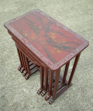 Antique furniture warehouse antique nest 4 four coffee tables antique nest 4 four coffee tables nest of 4 four late 19th century chinese lacquer watchthetrailerfo
