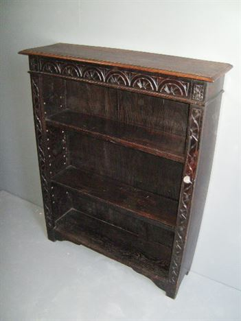 oak bookcase antiques 3