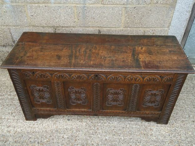 Antique Furniture Warehouse Antique Oak Coffer 17th