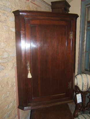 Antique Oak Cupboard - Antique George II Oak Corner Cupboard - George II Oak Corner Cupboard - Antique Oak Cupboard UK