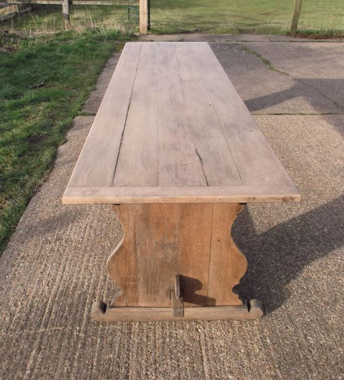 Oak table and chairs - Antique Oak Table Antique Oak Refectory Table