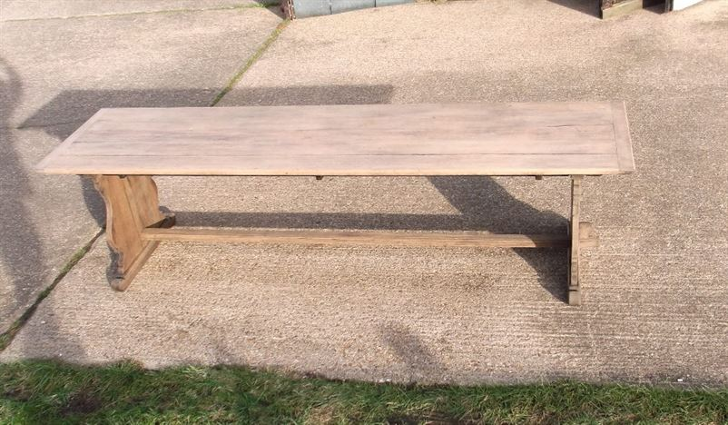 ANTIQUE FURNITURE WAREHOUSE Antique Oak Refectory Table 3 metre 10 ft Far