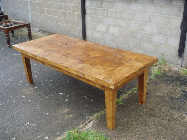 ANTIQUE FURNITURE WAREHOUSE Antique Refectory Table Burr Elm French