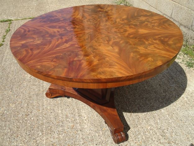 Antique Round Dining Table   Stunning Regency Circular Mahogany Segmented  Top Breakfast Table To Seat Six 6 People Great Pictures