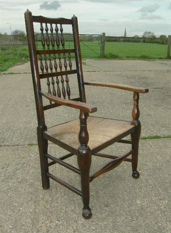 Antique Set Country Chairs - Set Of 8 Eight Ash Lancashire Spindle Back  Country Dining Chairs - ANTIQUE FURNITURE WAREHOUSE - Antique Set Country Chairs - Set Of 8