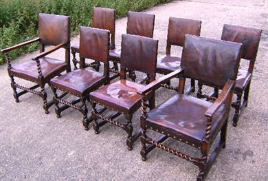 Excellent Antique Furniture Warehouse Antique Set Of 8 Eight Oak Bralicious Painted Fabric Chair Ideas Braliciousco