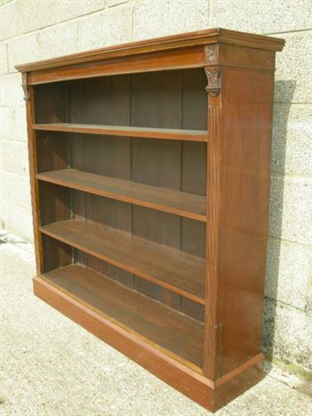 antique victorian bookshelves late 19th century victorian mahogany bookshelves with carving - Mahogany Bookshelves