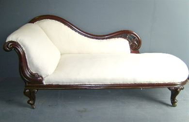 antique furniture warehouse antique victorian chaise longue victorian mahogany framed chaise. Black Bedroom Furniture Sets. Home Design Ideas