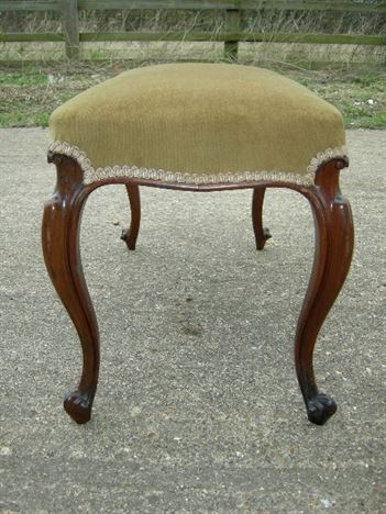 Antique Victorian Dressing Stool - Victorian Rosewood Cabriole Legged Dressing Stool Or Foot Stool