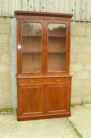 Antique Furniture Warehouse Antique Victorian Mahogany Bookcase 4ft Four Foot Wide Victorian