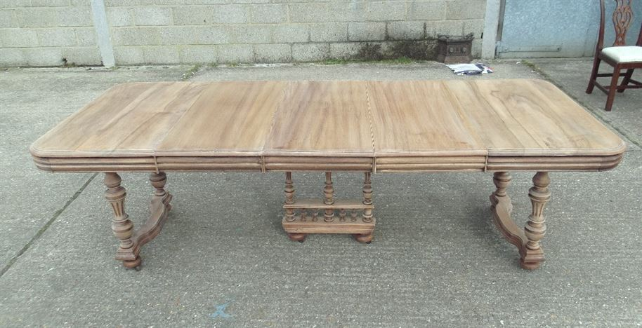 Antique furniture warehouse french antique dining table large 3 metre french walnut - Antique french dining tables ...