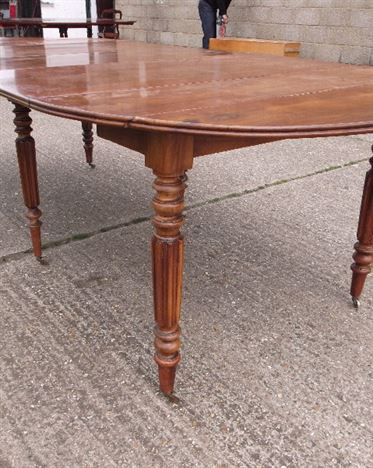 French Cherry Wood Farmhouse Table - Large 19th Century Round Extending Table In Cherry Wood
