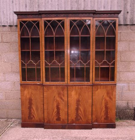 Antique Furniture Warehouse Georgian Library Bookcase