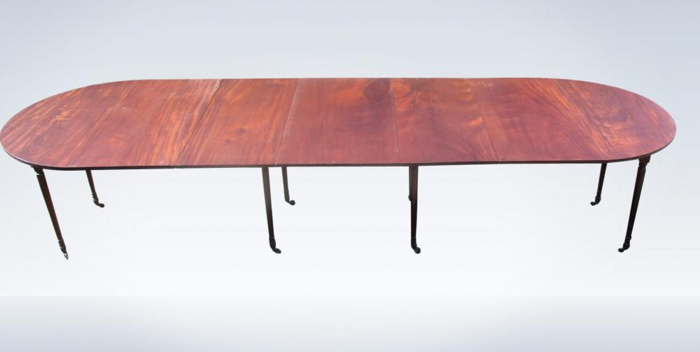 Georgian Mahogany Dining Table Campaign Sheraton Period