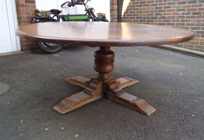 ANTIQUE FURNITURE WAREHOUSE Huge 2 Metre 6ft Diameter Antique Oak