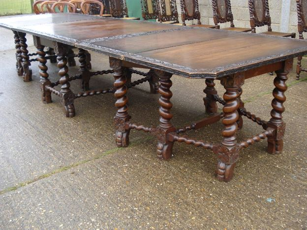 ANTIQUE FURNITURE WAREHOUSE Huge And Wide 17th Century Revival Antique Oak