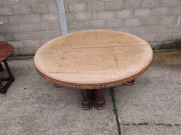 ANTIQUE FURNITURE WAREHOUSE Huge Antique Round Table 7ft 2 Metre Diameter