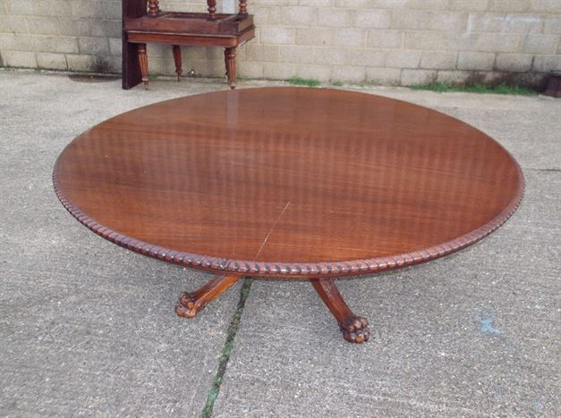 Antique Furniture Warehouse Huge Antique Round Table