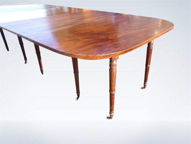 Large 10ft Georgian Mahogany Extending Dining Table