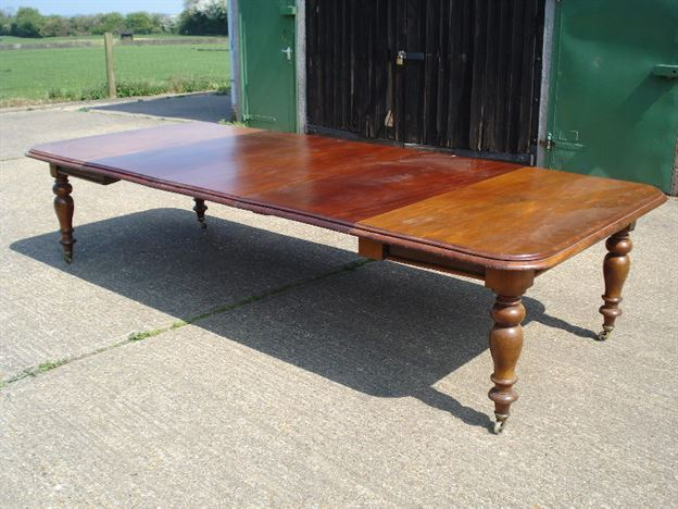 ANTIQUE FURNITURE WAREHOUSE  Large Antique Dining Table  11ft Early Victorian Mahogany
