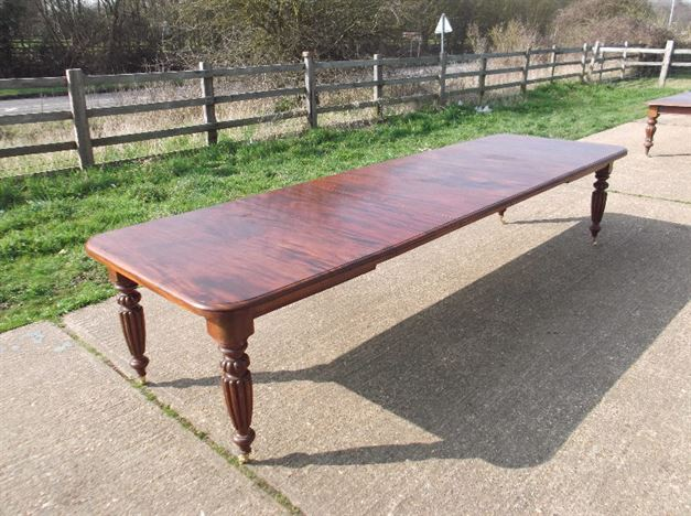 ANTIQUE FURNITURE WAREHOUSE Large Antique Dining Table 12ft Mid Victorian