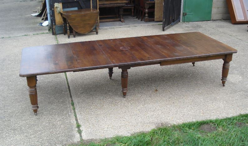 Antique Furniture Warehouse Large Antique Dining Table