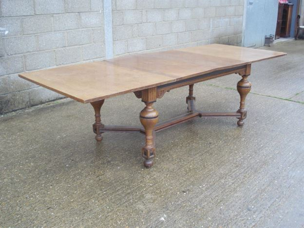 Antique furniture warehouse large antique dining table for Large dining table seats 10